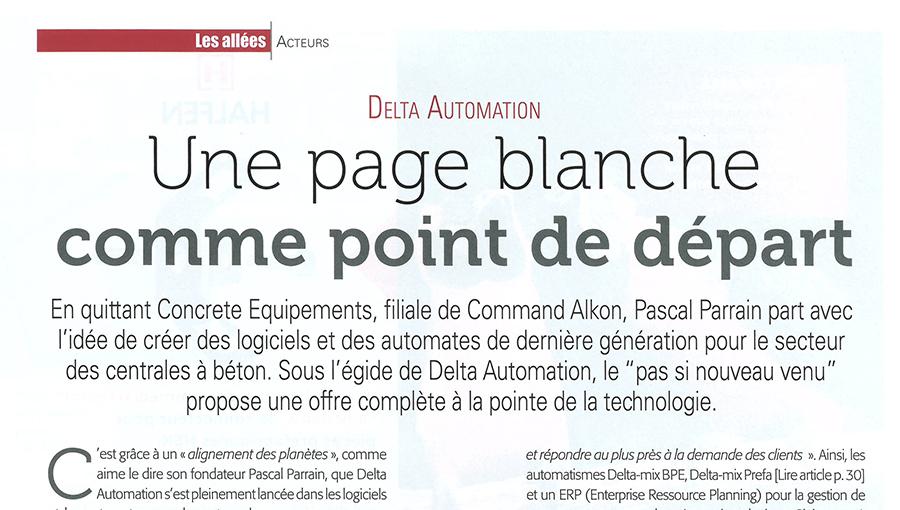Delta Automation dans Béton Magazine